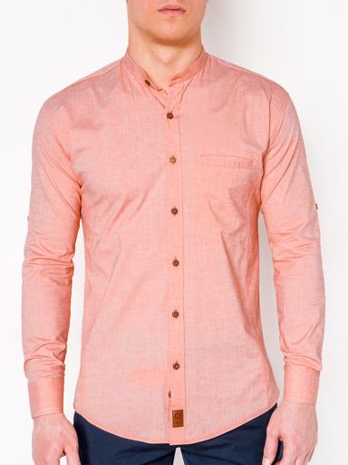 ba3aa62790e Мужская рубашка с длинным рукавом K353 - мятная зелёный