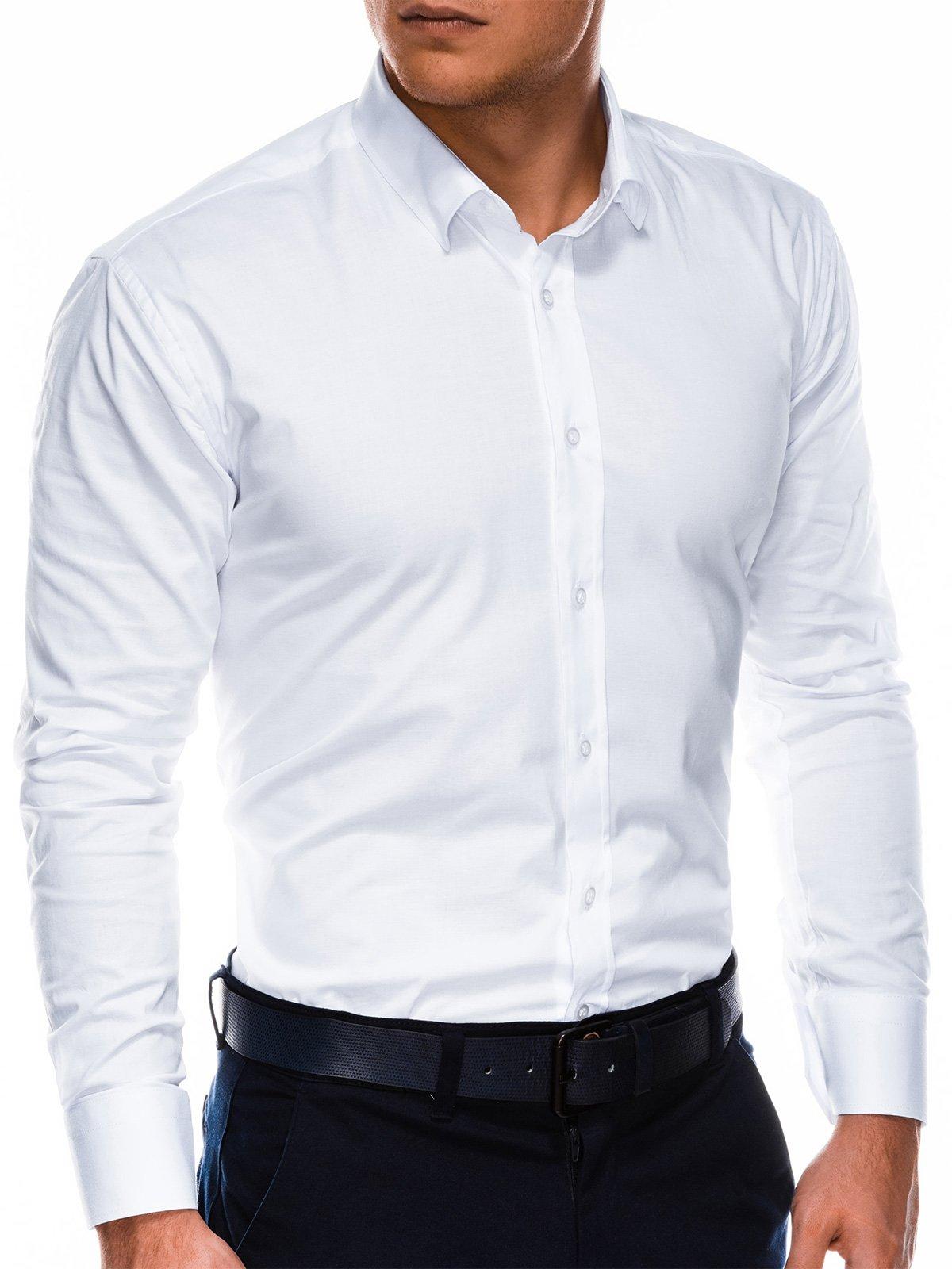 Купить со скидкой Сорочка чоловіча з довгим рукавом K505 - біла