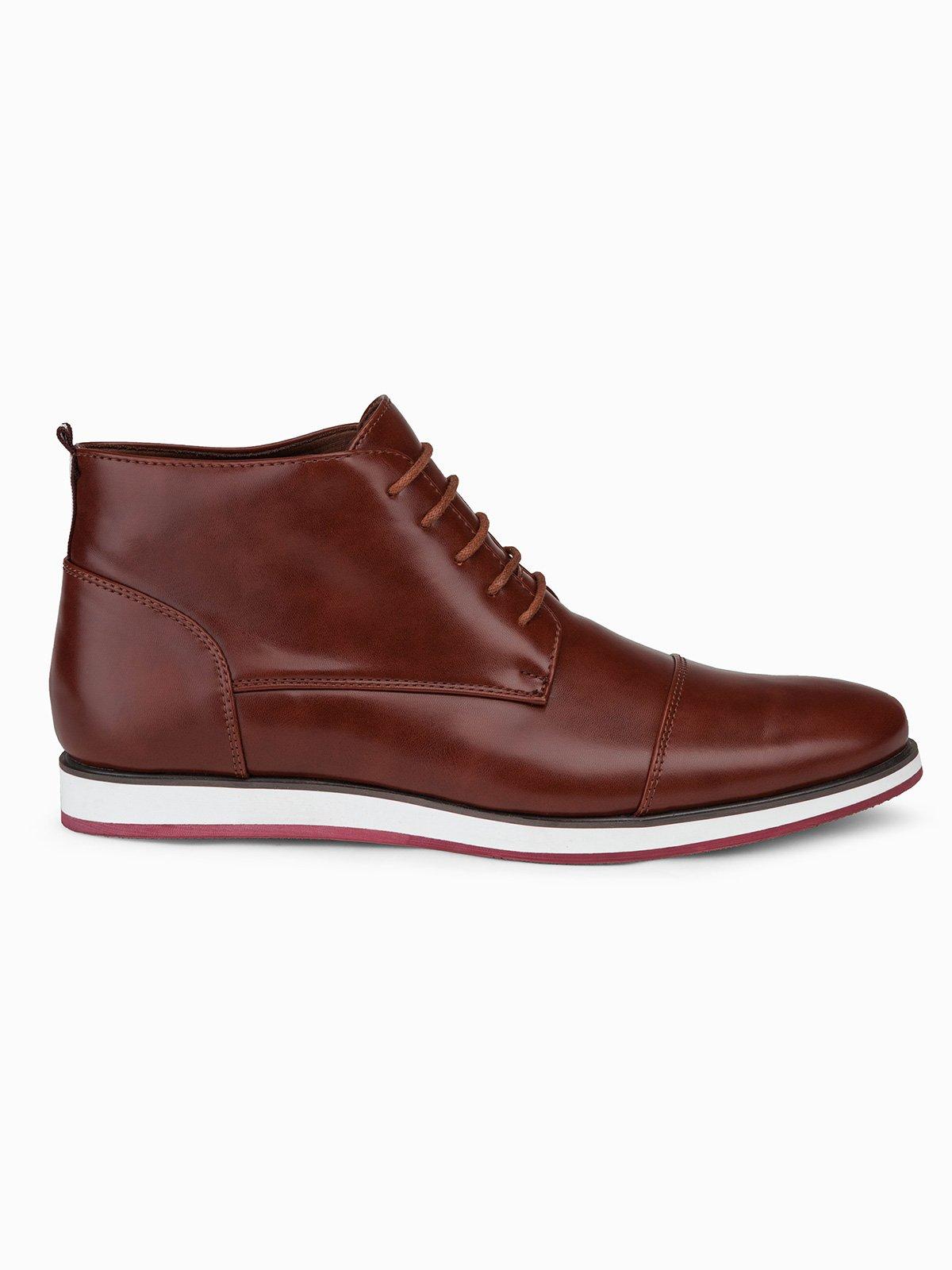 Купить Чоловічі напівчеревики T326 - світло-коричневі, Ombre Clothing