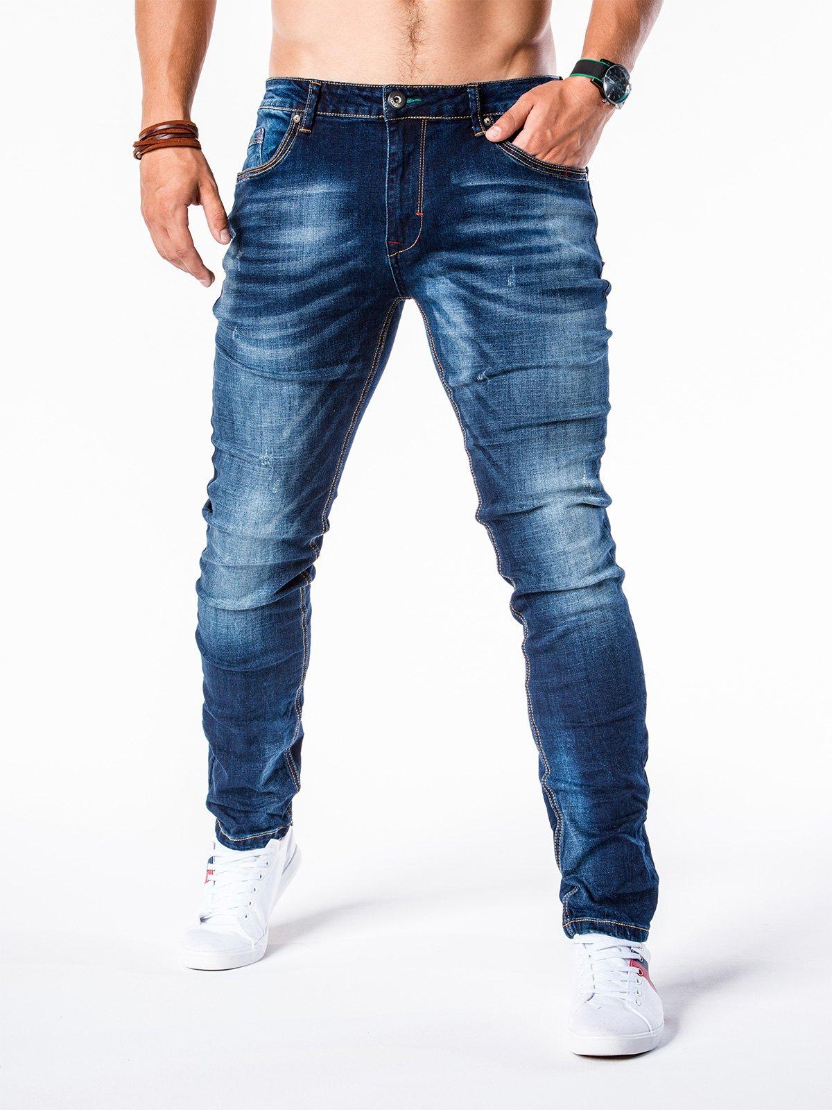 Штани чоловічі джинсові P564 - темно-сині