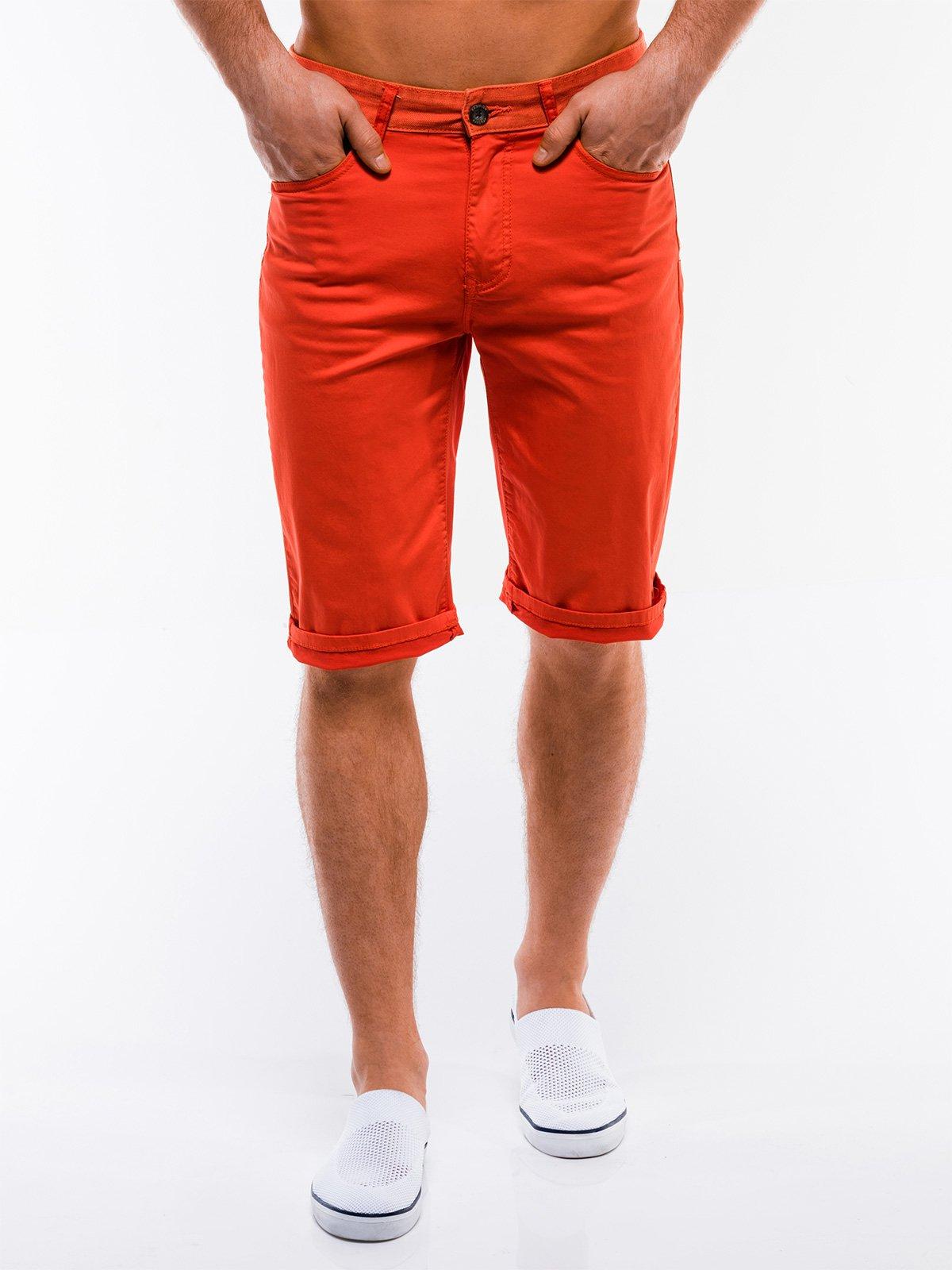 Шорти чоловічі chino W214 - помаранчеві, Ombre Clothing  - купить со скидкой