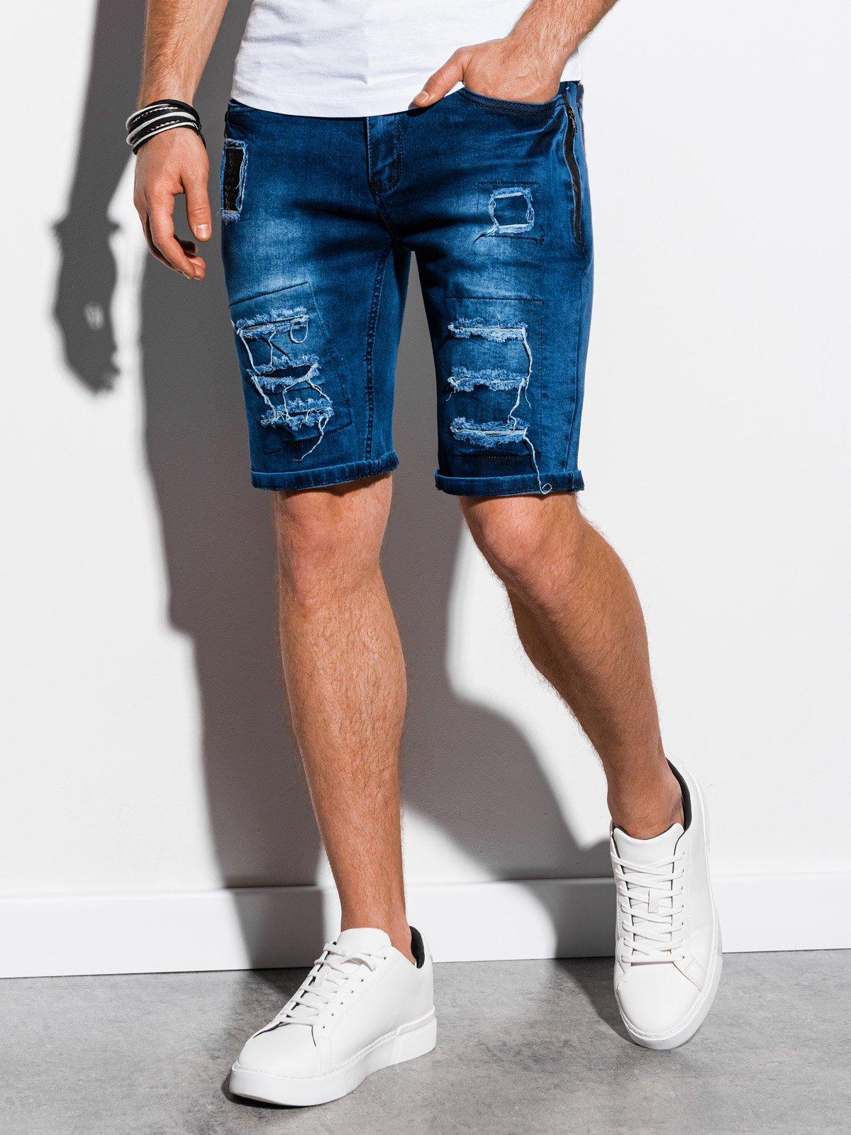 Купить со скидкой Шорти чоловічі джинсові W131 -темно-сині
