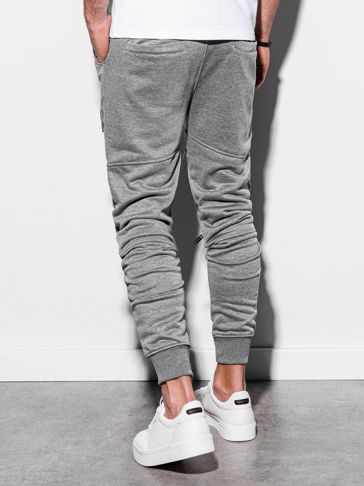 Купить Штани чоловічі спортивні P821 - темно-сірий, Ombre Clothing