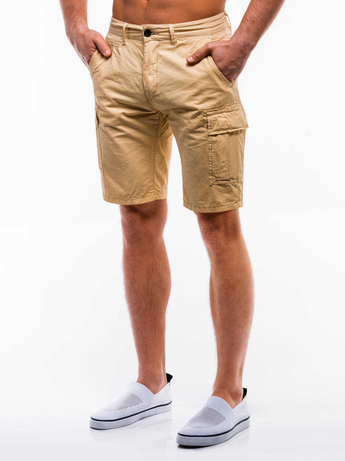 Купить Шорти чоловічі карго W209 - бежеві, Ombre Clothing