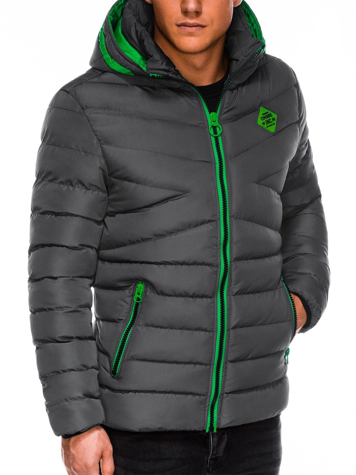 Купить со скидкой Куртка чоловіча демісезонна стьобана C363 - темно-сіра