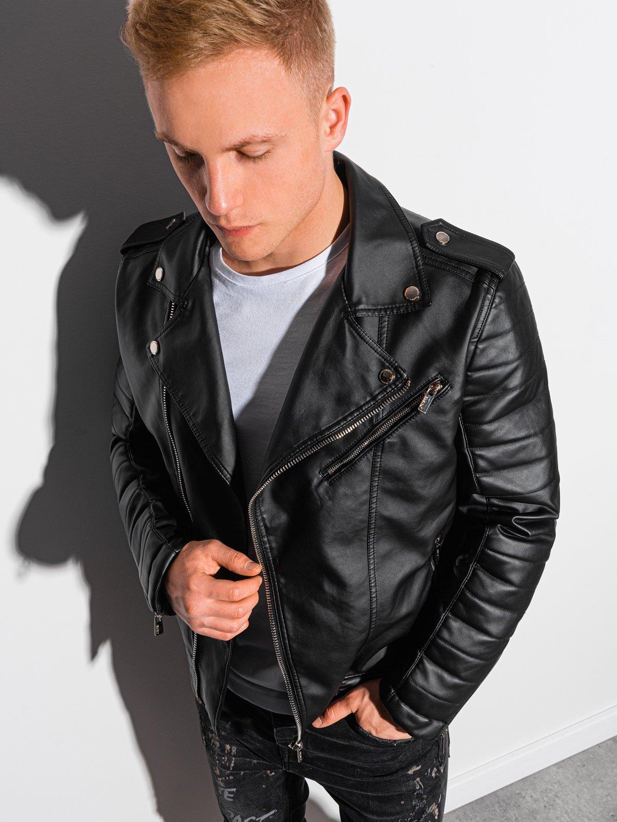 Купить со скидкой Чоловіча мотоциклетна куртка C412 - чорна