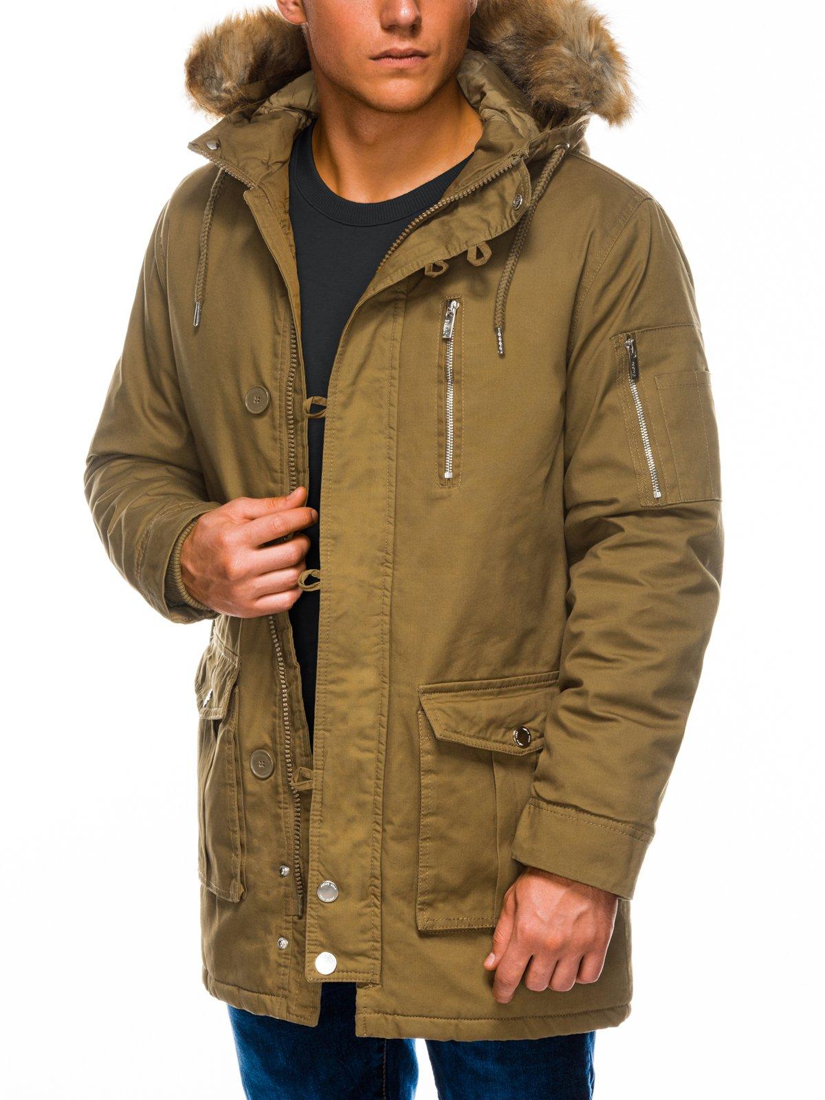 Купить Куртка чоловіча зимова парка C365 - оливкова, Ombre Clothing