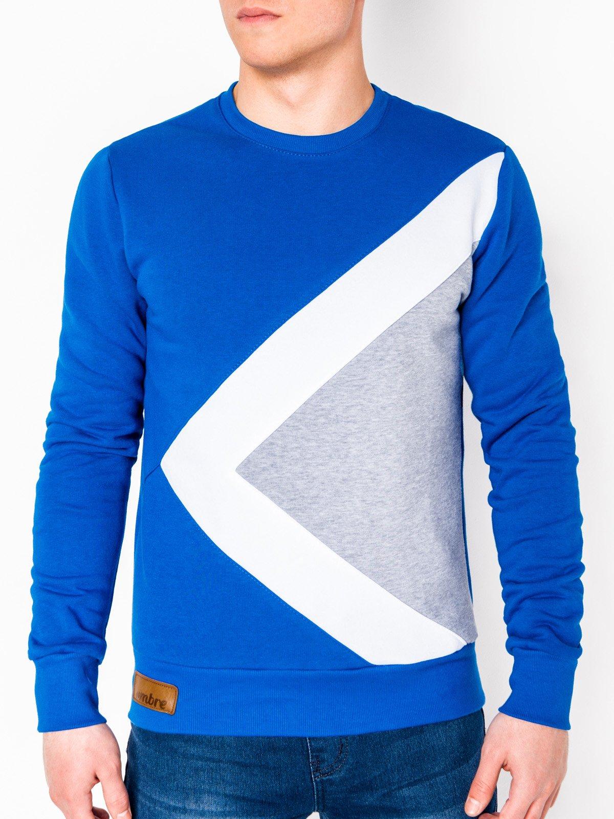 Купить Толстовка чоловіча без капюшона erico B575 - синя, Ombre Clothing
