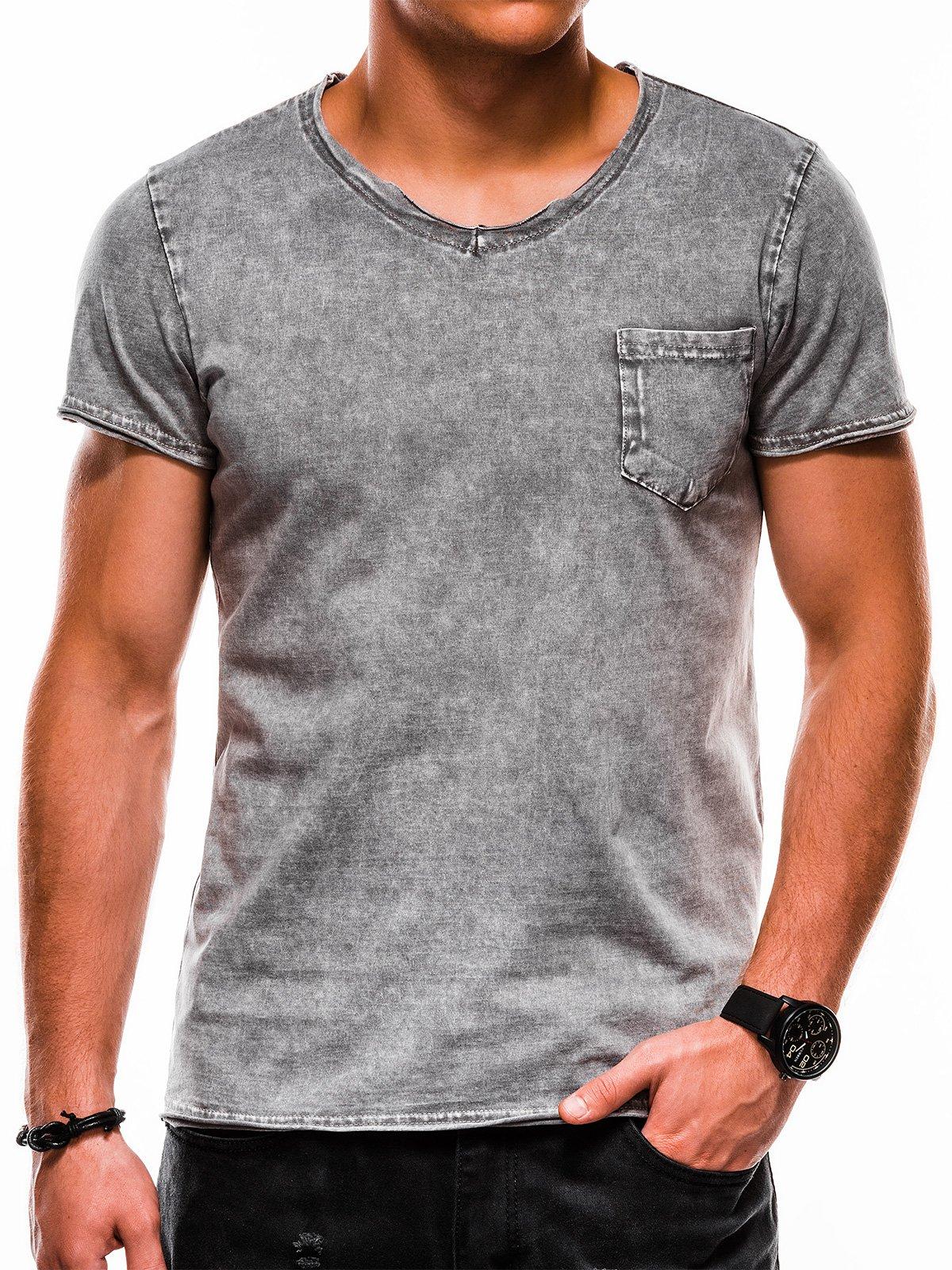 Ombre Clothing / Футболка чоловіча з принтом S1050 - сіра