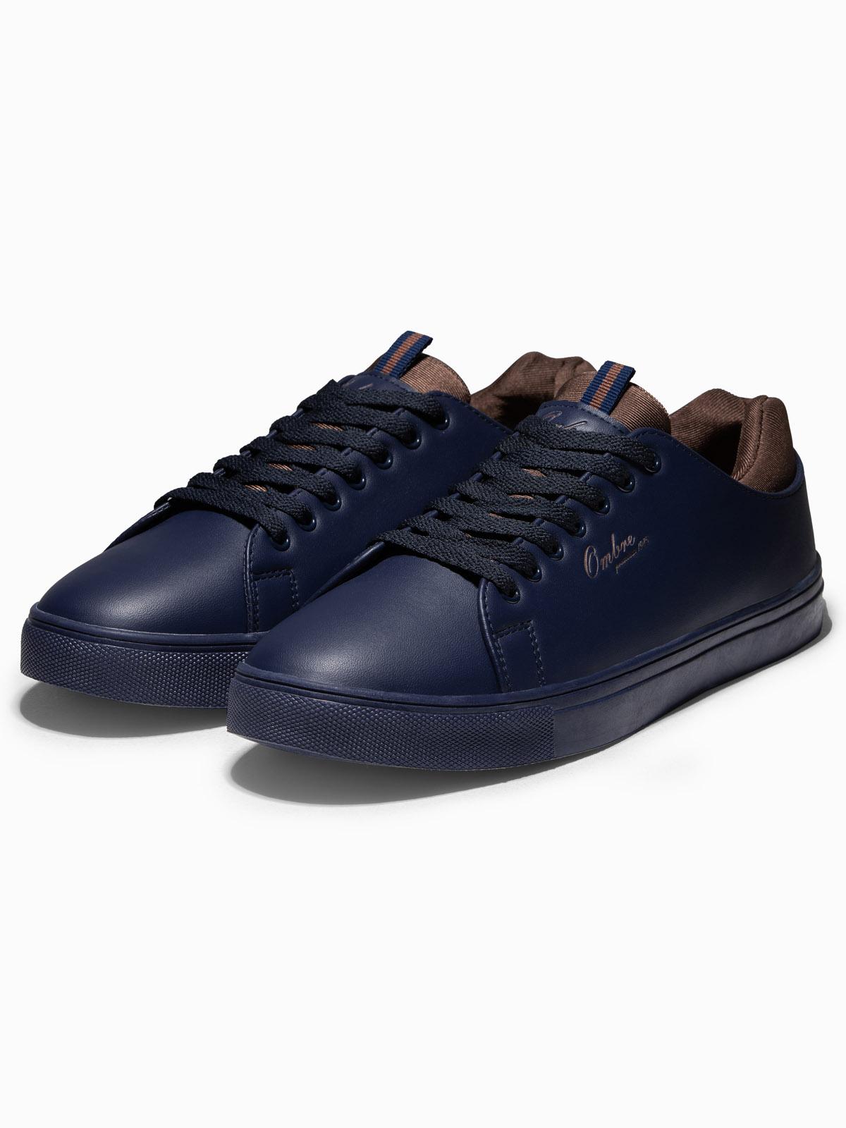 Купить Напівчеревики чоловічі T333 – темно-сині, Ombre Clothing