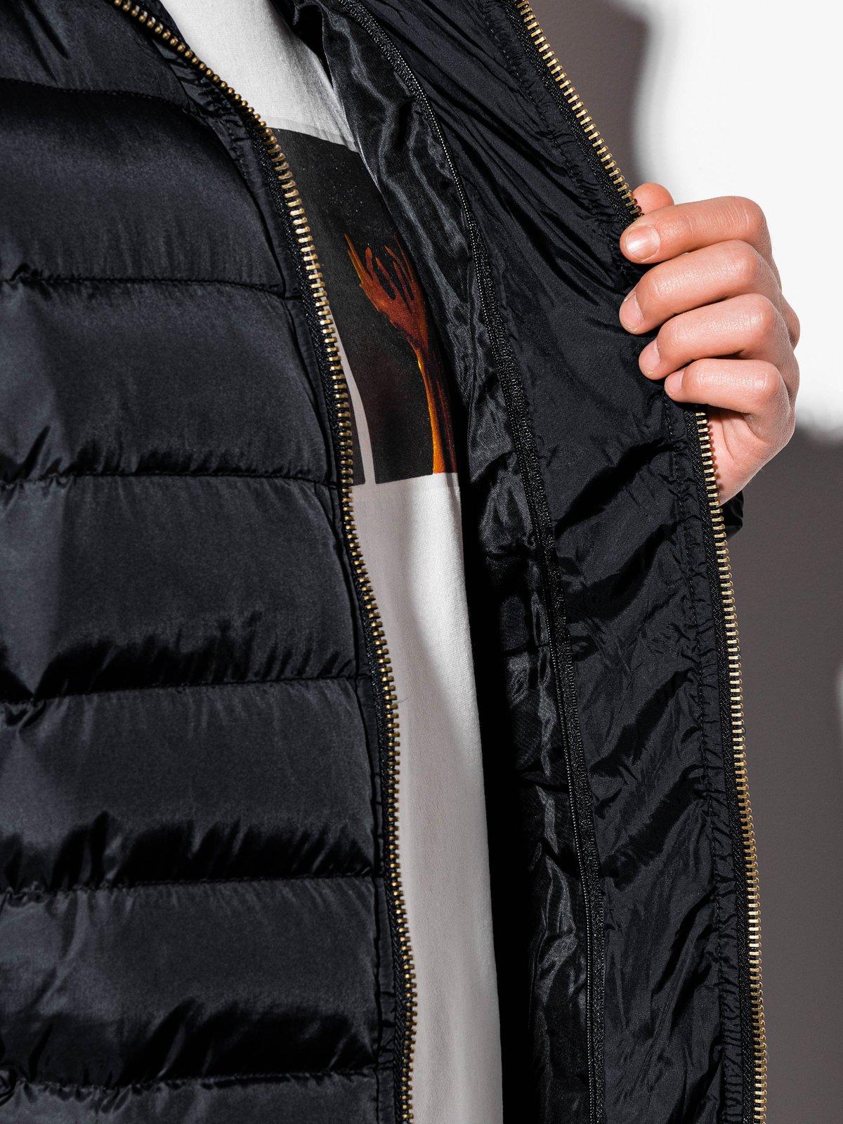 Купить со скидкой Куртка чоловіча демісезонна стьобана C384 - чорна
