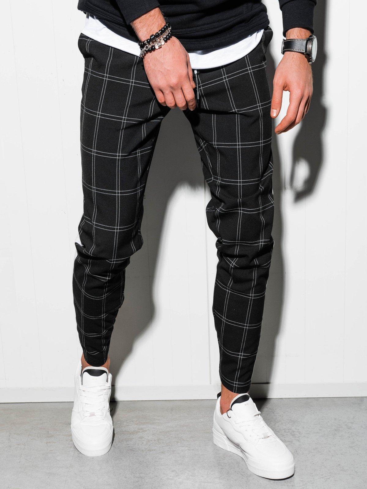 Купить Штани чоловічі чінос P851 - чорні, Ombre Clothing