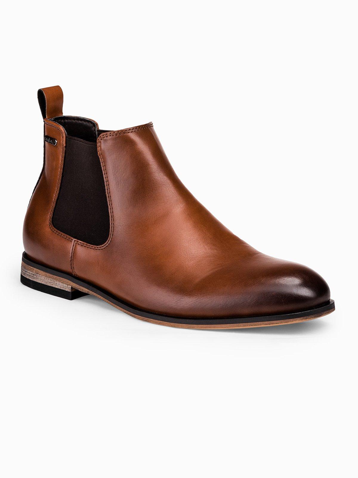 Купить со скидкой Чоловічі черевики по щиколотку T321 - коричневі
