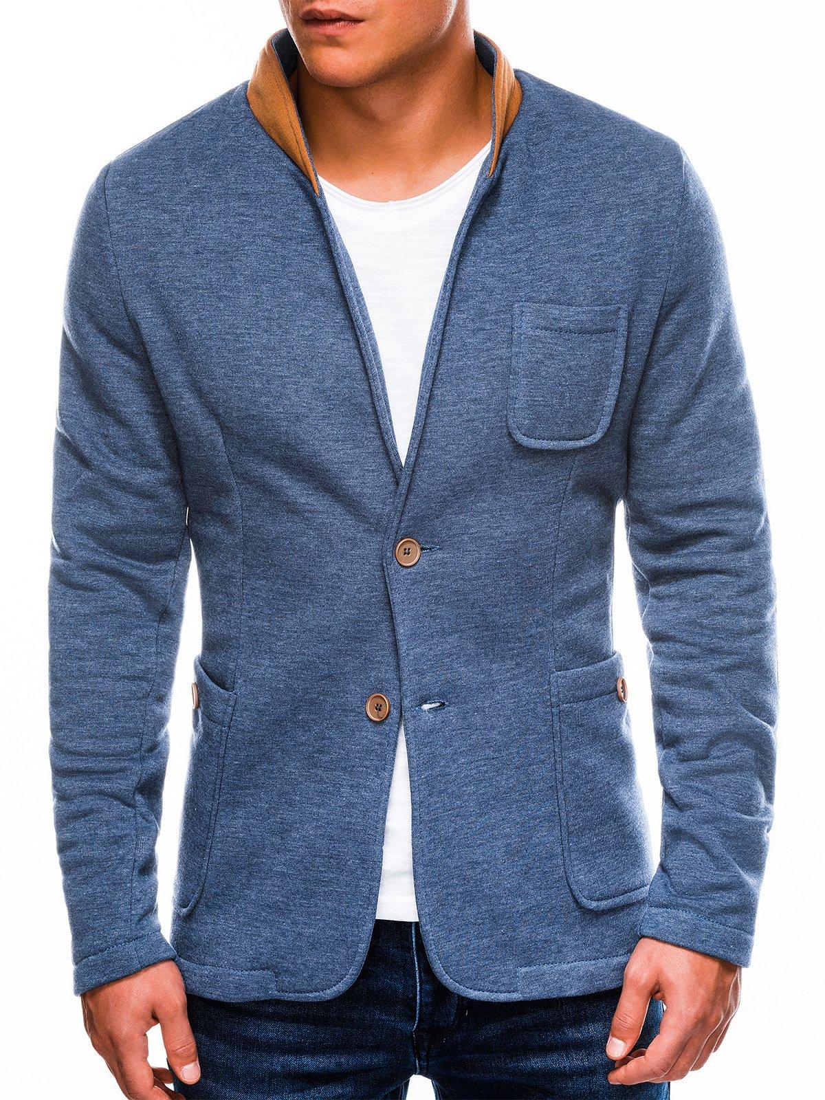 Купить со скидкой Піджак чоловічий повсякденний M07 - джинсовий