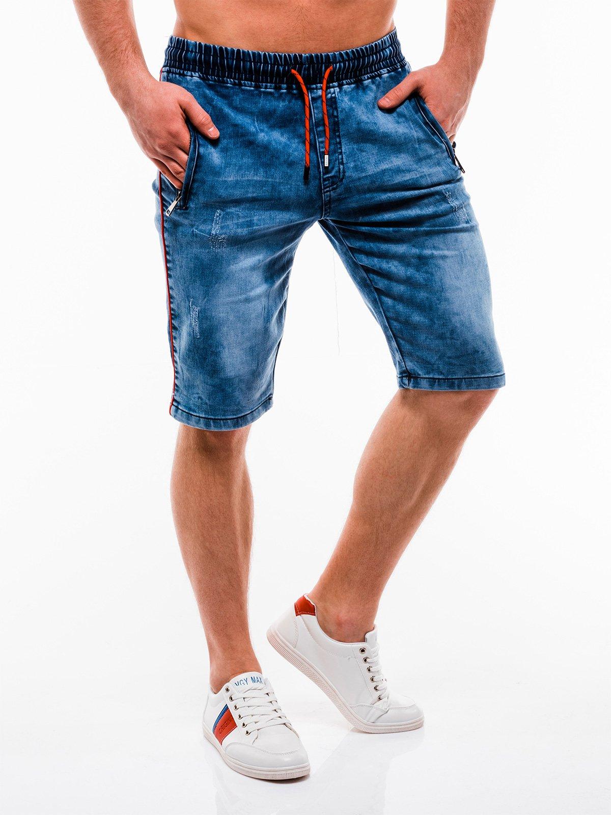 Шорти чоловічі джинсові W128 - сині