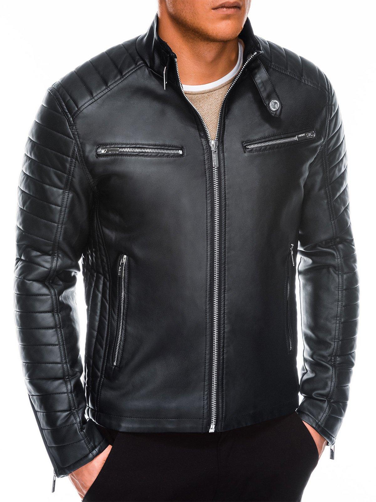 Купить со скидкой Чоловіча мотоциклетна куртка C414 - чорна