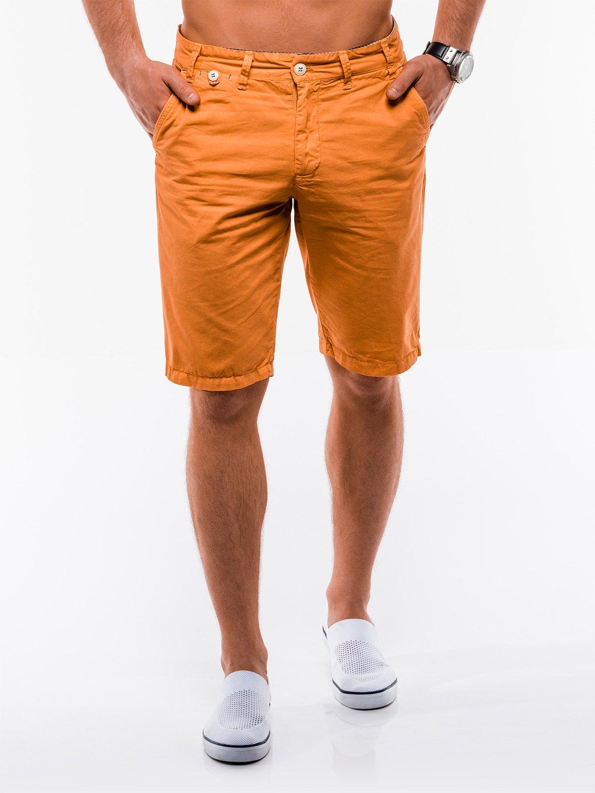 Купить Шорти чоловічі chino W195 - помаранчеві, Ombre Clothing