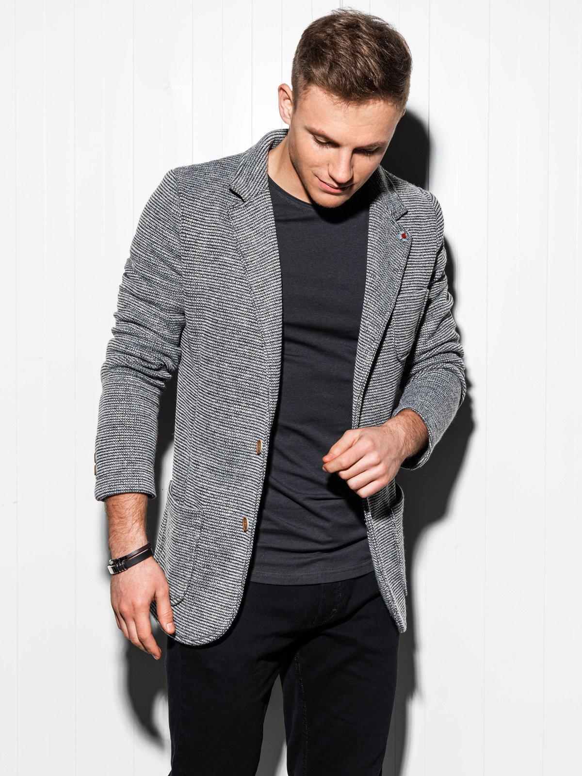 Купить со скидкой Чоловічий повсякденний піджак M158 - сірий