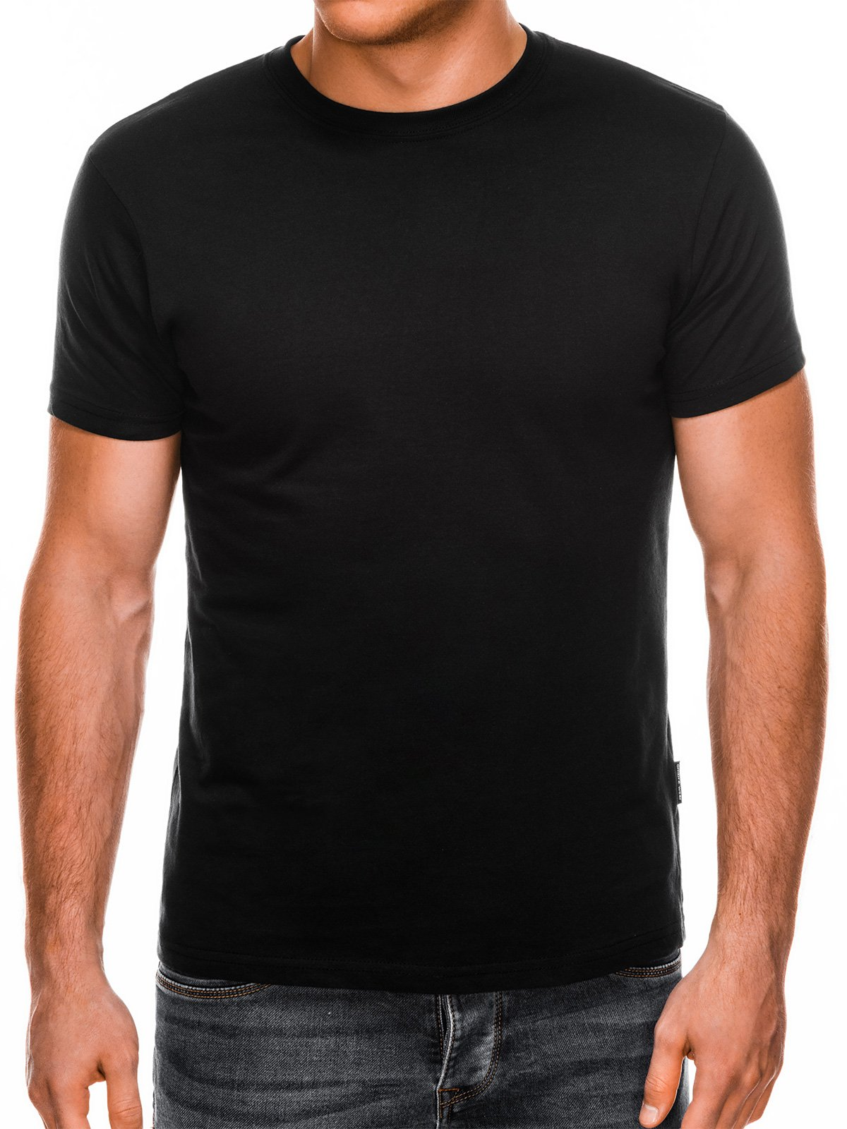 Футболка чоловіча без малюнка S884 - чорна