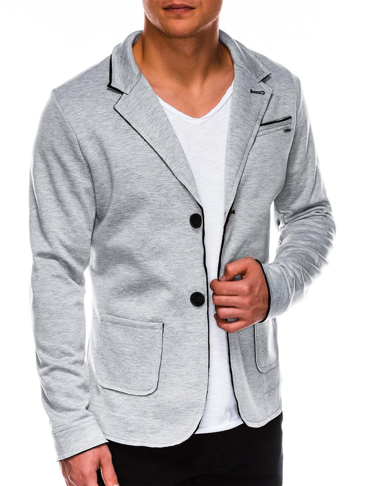 Купить со скидкой Піджак чоловічий кежуал M90 - сірий