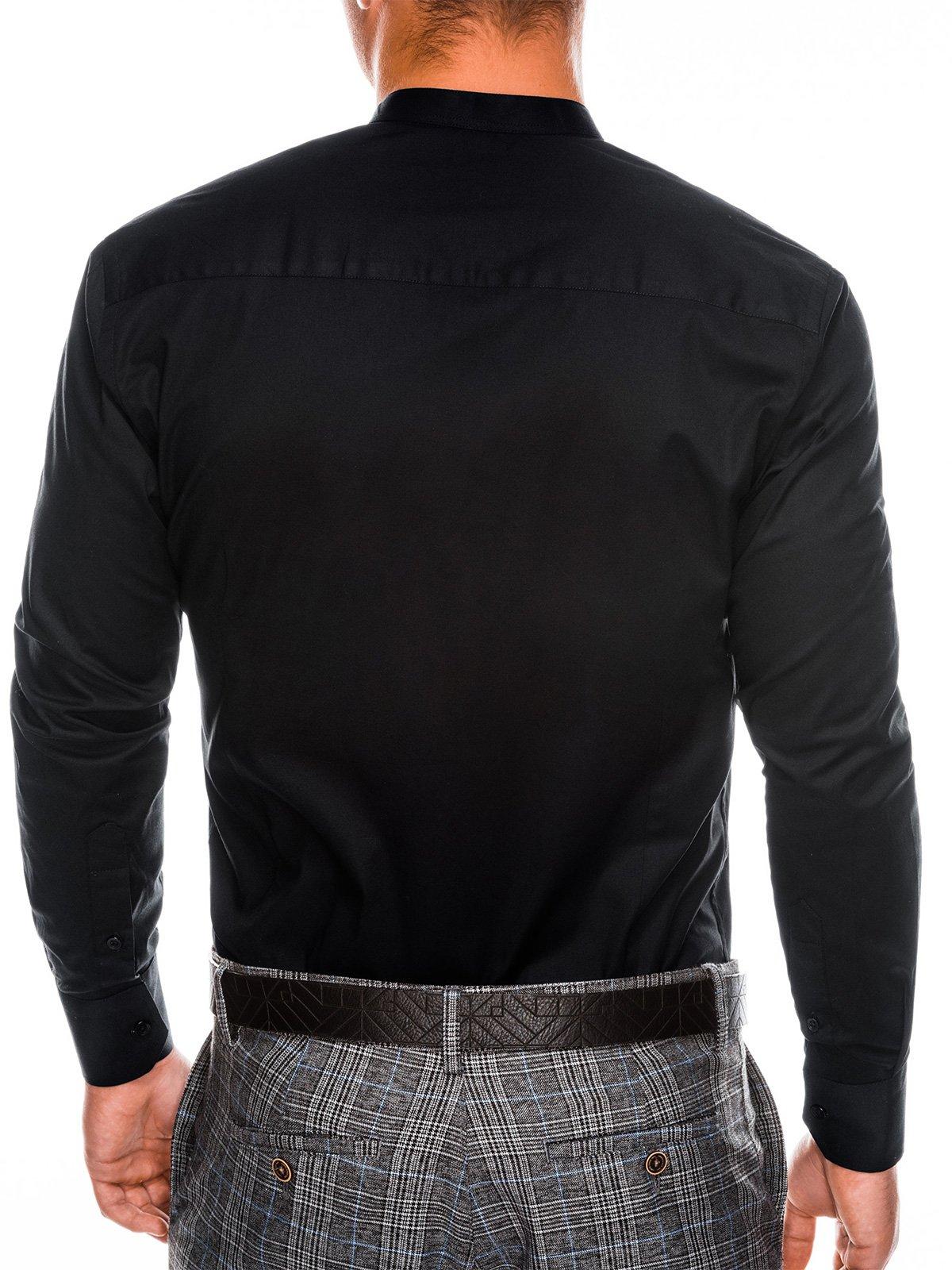 fd4adcc5a78 Мужская рубашка элегантная с длинным рукавом K307 - черная чёрный ...