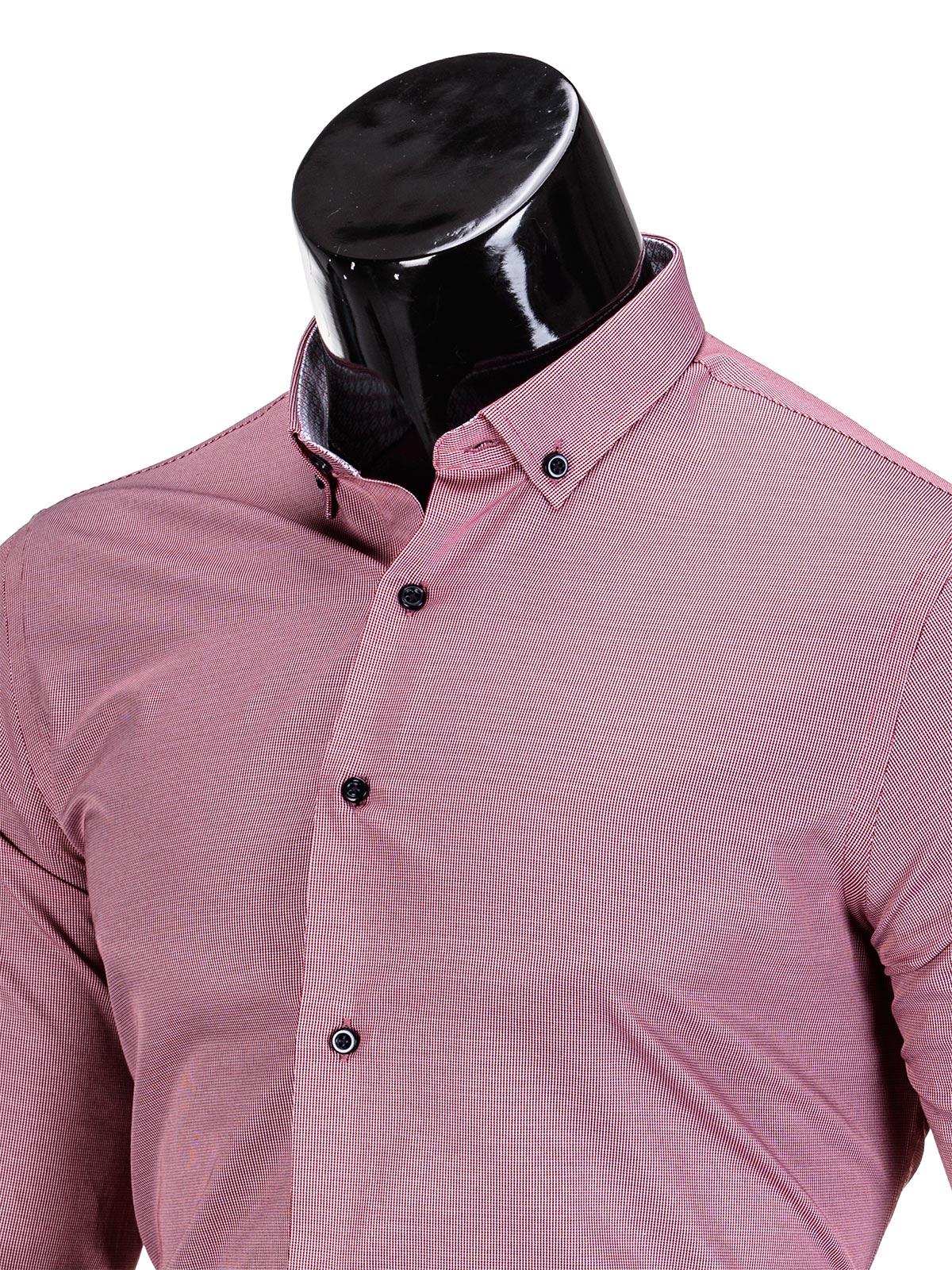 4c319b0d8e4 Мужская рубашка элегантная с длинным рукавом K350 - красная красный ...