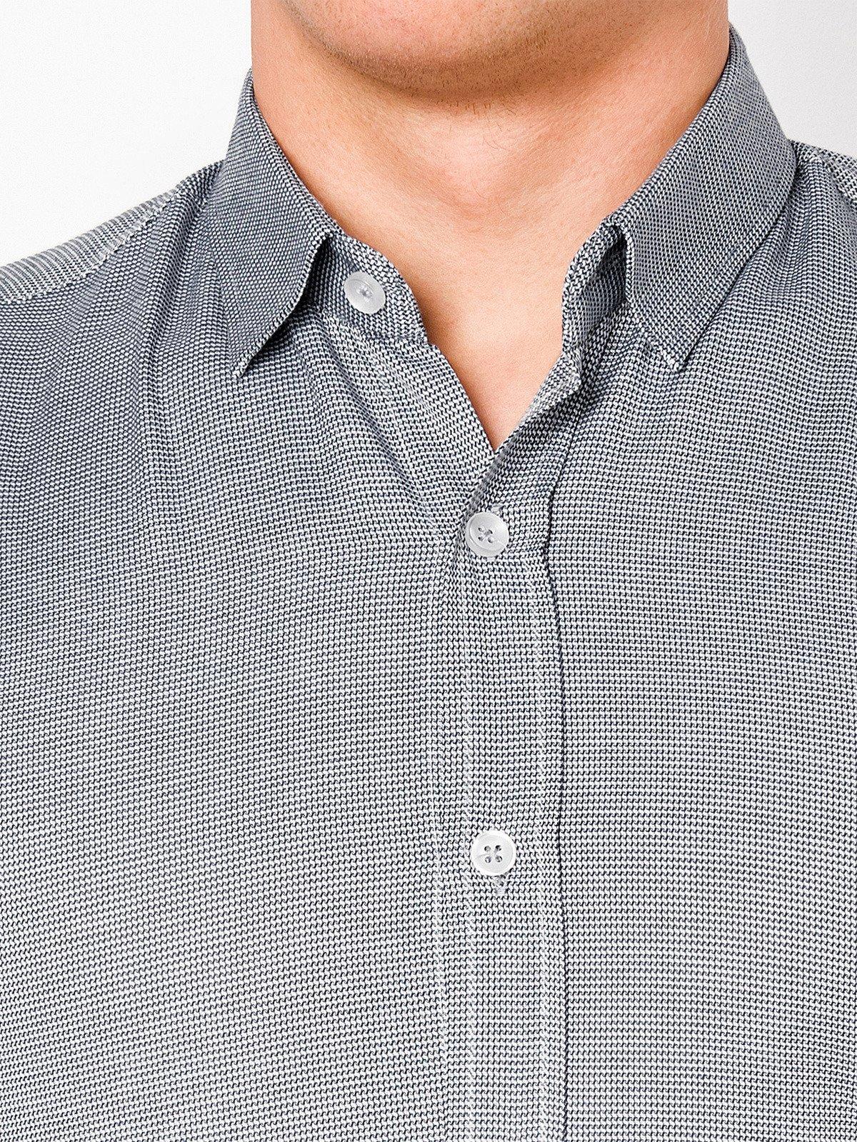 10044bd8dad ... Мужская рубашка элегантная с длинным рукавом K408 - белая черная ...