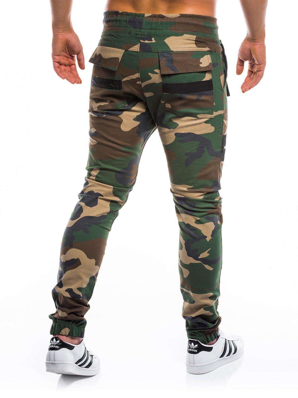 0ae9f221 Мужские брюки джоггеры P708 - зелёные/камуфляж зелёный    камуфляж ...