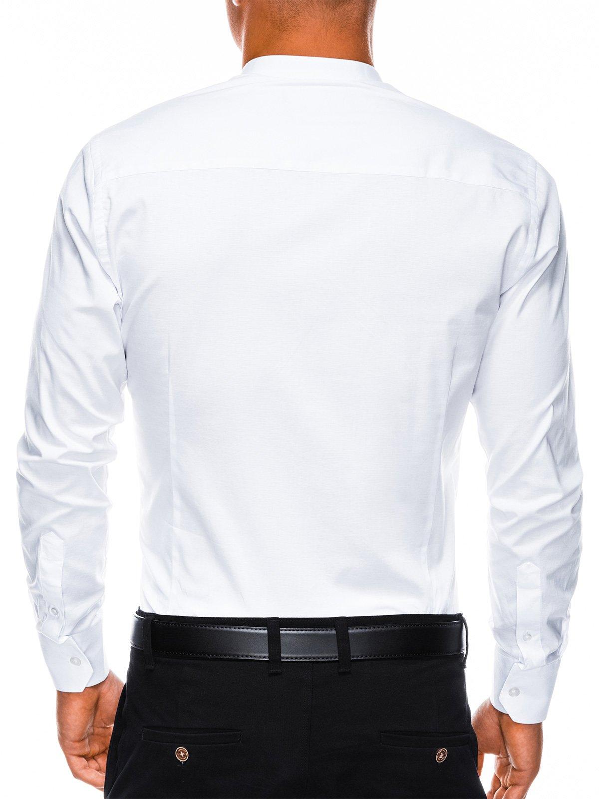 b93512b1b59302 Сорочка чоловіча елегантна з довгим рукавом K307 - біла білий ...